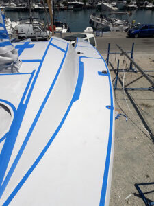 Superstructure preparation and masking for new antislip application